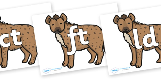 Final Letter Blends on Hyenas - Final Letters, final letter, letter blend, letter blends, consonant, consonants, digraph, trigraph, literacy, alphabet, letters, foundation stage literacy