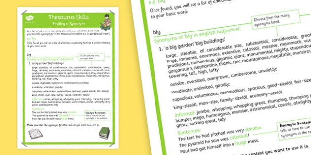 Using a Thesaurus Poster - thesaurus, poster, display, using