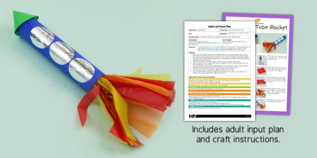 Bonfire Night Rocket Craft EYFS Adult Input Plan And Craft Pack