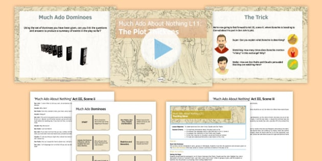 Much Ado About Nothing Lesson Pack 11: The Plot Thickens - much ado about nothing, lesson, pack