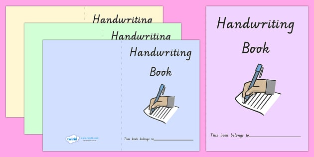 Handwriting Book Covers VIC - handwriting, books, read, write