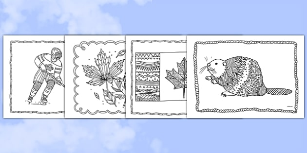 Canada Mindfulness Colouring Sheets - canada, mindfulness, colouring, colour, de-stress, calm down