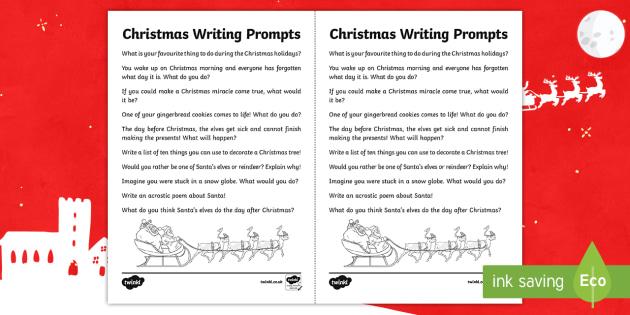 Christmas Writing Prompts - Canada Christmas, christmas, writing, writing prompts, prompts, elves, reindeer, santa