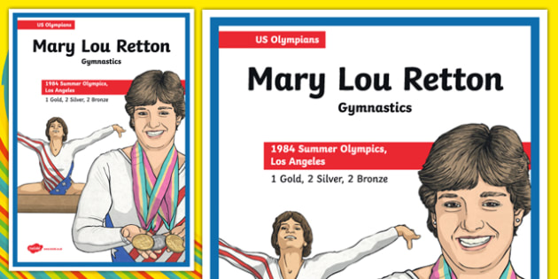 US Olympians Mary Lou Retton Poster - usa, america, olympics, olympians, poster