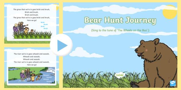 Bear Hunt Journey Song PowerPoint
