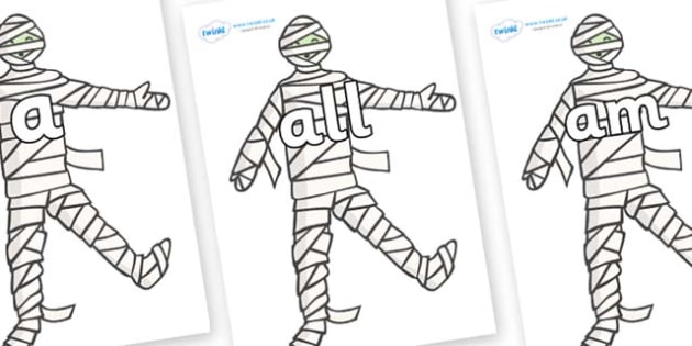 Foundation Stage 2 Keywords on Mummy (Plain) - FS2, CLL, keywords, Communication language and literacy,  Display, Key words, high frequency words, foundation stage literacy, DfES Letters and Sounds, Letters and Sounds, spelling
