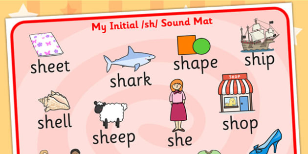 sh Sound Mat - sh, sh sound, sounds, sound mat, visual aid