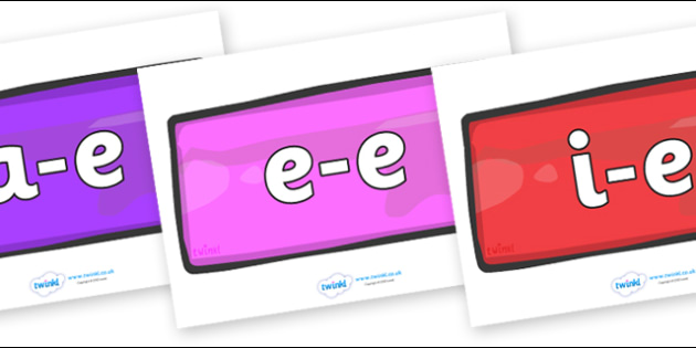 Modifying E Letters on Bricks (Multicolour) - Modifying E, letters, modify, Phase 5, Phase five, alternative spellings for phonemes, DfES letters and Sounds