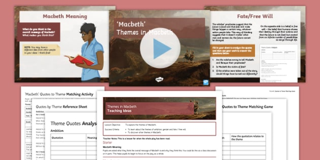 Macbeth Themes Resource Pack