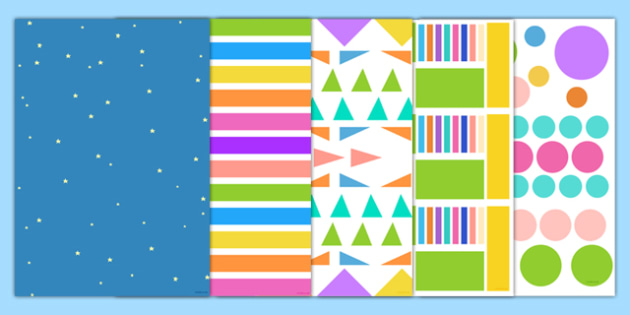 Colour Pattern Themed A4 Sheets - colour pattern, a4, colour, pattern, display