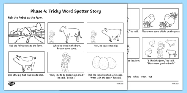 Phase 4 Tricky Word Spotter Story
