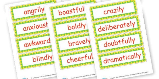 Adverbs Cards - KS2 Verbs and Adverbs Primary Resources, Verbs, Adverbs, KS2 Words