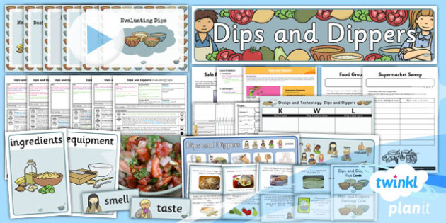 PlanIt - D&T KS1 - Dips and Dippers Unit Pack