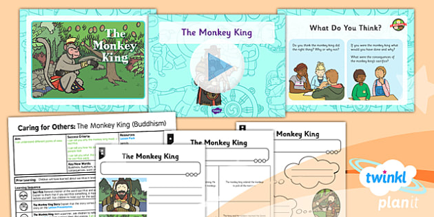 PlanIt - RE Year 1 - Caring for Others Lesson 6: The Monkey King (Buddhism) Lesson Pack - planit, The Monkey King, Buddhism