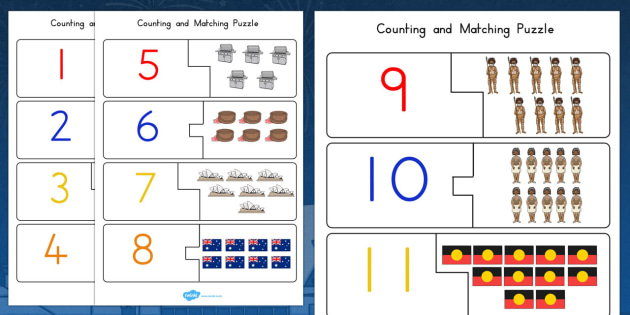 Australia Day Counting Puzzle - australia, counting, puzzle, day