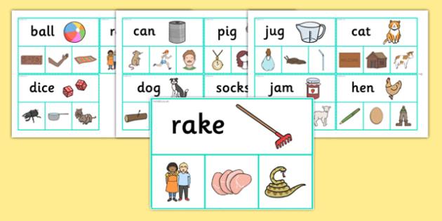 Rhyme Peg Matching Activity - rhyme, peg, matching, activity
