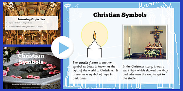 Christian Symbols Teaching and Task Setting PowerPoint - religion
