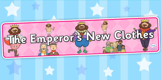 The Emperors New Clothes Display Banner - story books, header