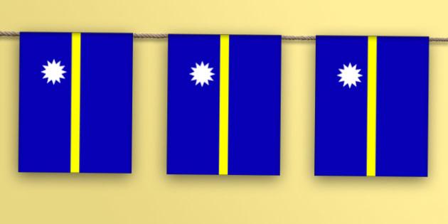 Nauru Flag Display Bunting - countries, geography, display, flag