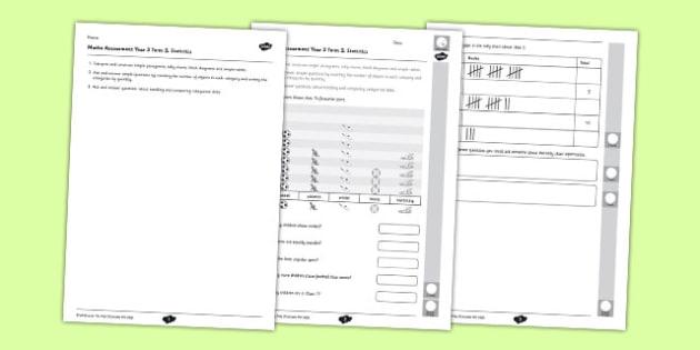 Year 2 Maths Assessment Statistics Term 2 - Maths, Assessment, Statistics