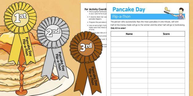 Pancake Day Flip a Thon - Elderly, Reminiscence, Care Homes, Pancake Day