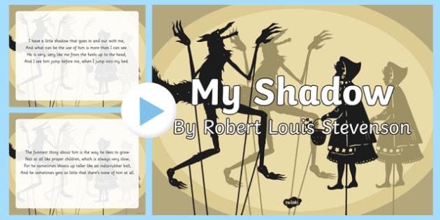 My Shadow by Robert Louis Stevenson Poem PowerPoint