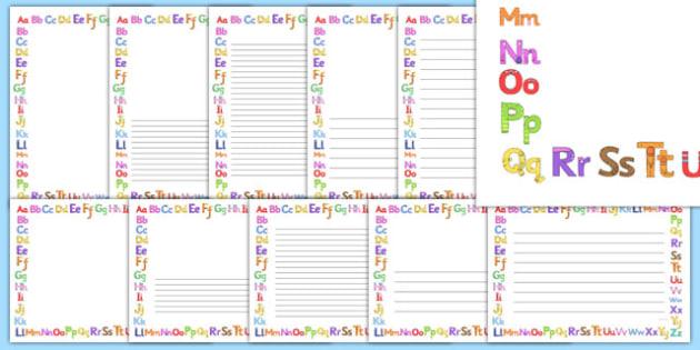 Monster Alphabet Page Borders - monster alphabet, monster, alphabet, page borders, page, borders