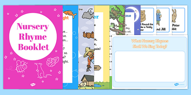 Nursery Rhymes Booklet and Choosing Cards Pack - stories, early years, ks1, key stage 1, activities, challenge, game, sounds, speaking and listening, reading