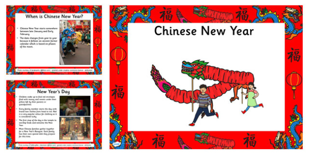 Chinese New Year Information PowerPoint EYFS - chinese new year