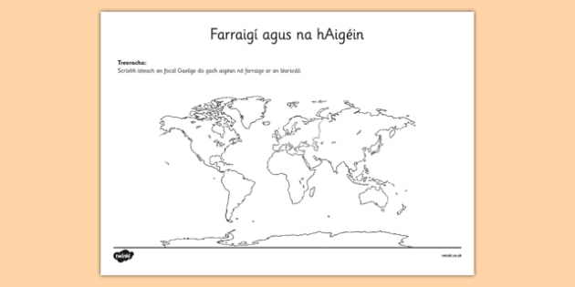 Farraigí agus na hAigéin Irish Seas and Oceans Activity Sheet Gaeilge - Irish, gaeilge, seas, oceans, map, activity sheet, worksheet