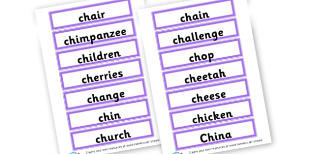 ch spellings - Phoneme Games CH Sound Primary Resources - Speech Language Therap