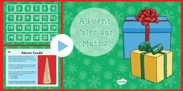 Advent Calendar Maths Challenges UKS2 - advent, calendar, maths, challenges, uks2