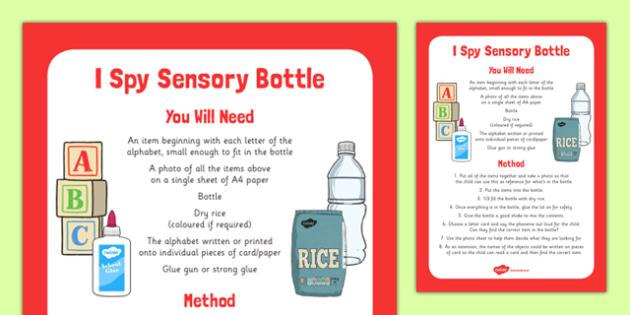 I Spy Sensory Bottle - I spy, sensory bottle, eyfs, early years, sensory, bottle