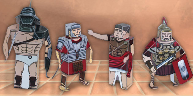 Ancient Rome Paper Model Pack - paper model, rome, pack, display