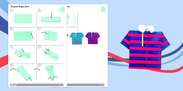 Origami Rugby Shirt Activity - origami, rugby, shirt, activity