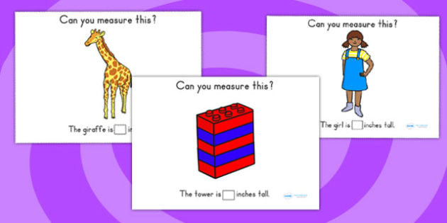 Measuring In Inches Worksheet - measure, math, numeracy, inch