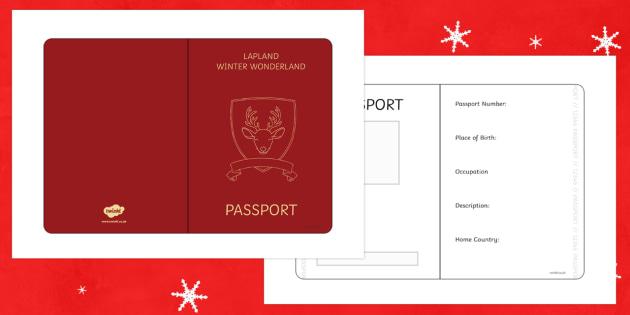 Mrs Claus Passport Writing Frame - M&S Christmas, Marks, Spencers, Advert, Mrs Christmas, Mrs Claus, character profile