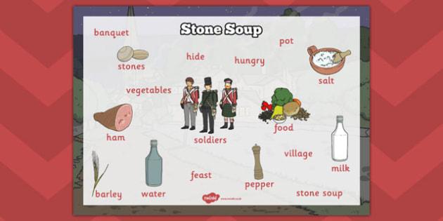 Stone Soup Word Mat - stone soup, word mat, word, mat, stone