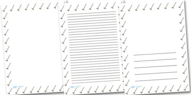Sweeping Brush Broom Portrait Page Borders- Portrait Page Borders - Page border, border, writing template, writing aid, writing frame, a4 border, template, templates, landscape