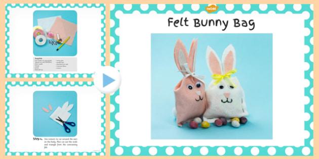 Felt Bunny Bag Craft Instructions PowerPoint - powerpoint, craft