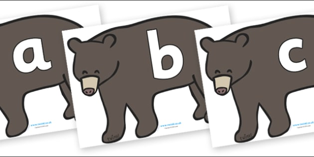 Phoneme Set on Grizzly Bears - Phoneme set, phonemes, phoneme, Letters and Sounds, DfES, display, Phase 1, Phase 2, Phase 3, Phase 5, Foundation, Literacy
