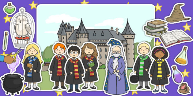 Wizard School Display Cut Outs - displays, wizards, posters