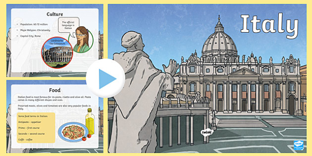 Italy Information PowerPoint - italy, italy powerpoint, information about italy, italy information powerpoint, places, around the world, countries, ks2
