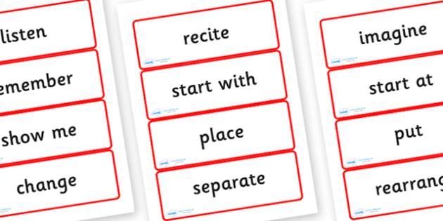 Year Three Numeracy Vocabulary Word Cards - Instructions - word cards, numeracy word cards, numeracy vocabulary, word flash cards, flash cards, key words