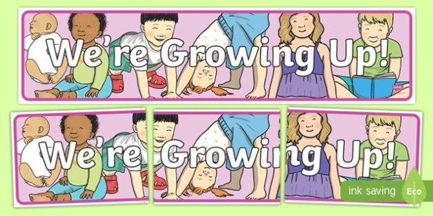 We're Growing Up! Display Banner