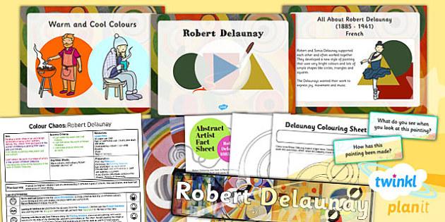PlanIt - Art KS1 - Colour Chaos Lesson 5: Delaunay Lesson Pack