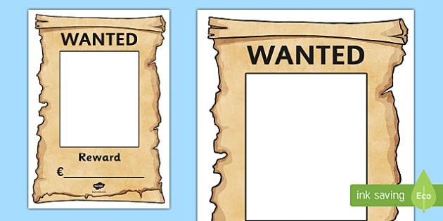 Garda Wanted Poster - garda, police force, ireland, republic of ireland, role play, police station, garda station, detective, role play area, wanted poster, wanted, poster, display poster, display