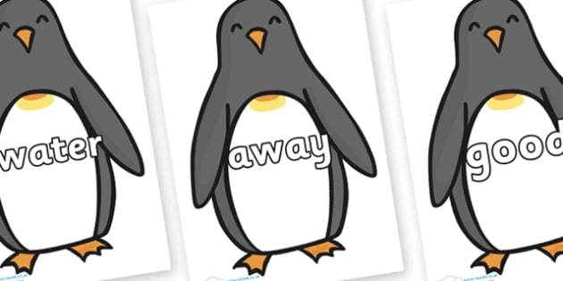 Next 200 Common Words on Penguins - Next 200 Common Words on  - DfES Letters and Sounds, Letters and Sounds, Letters and sounds words, Common words, 200 common words