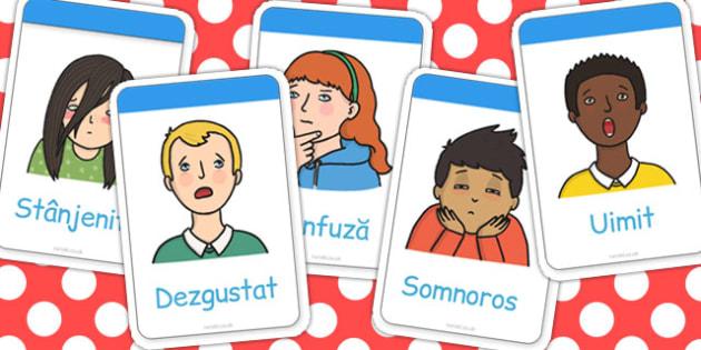 Noi. sentimente si emotii, cartonase cu imagini si cuvinte, Romanian