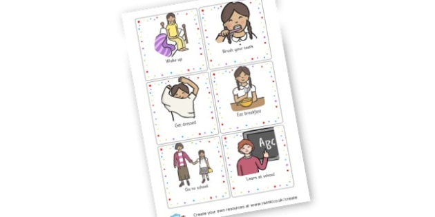 Morning Routine Cards - Daily Routine Primary Resources, visual timetable, class, rules